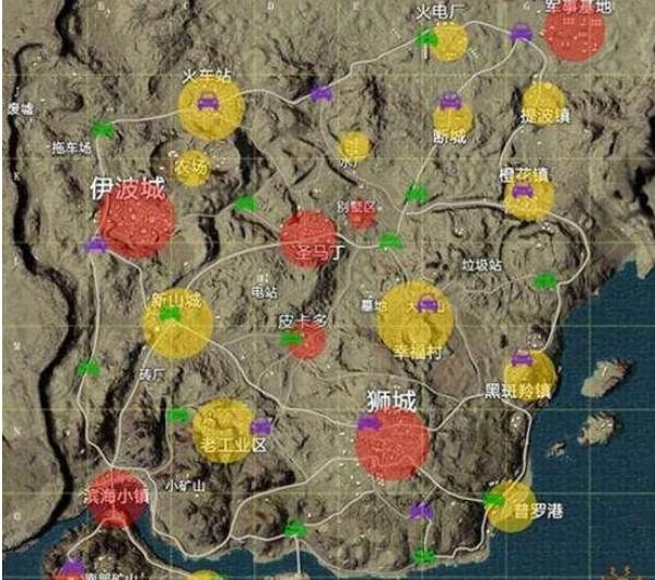 和平精英,吃鸡手游,地图资源分布