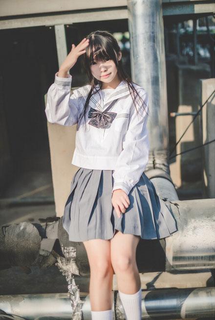 日系清纯软妹户外jk写真