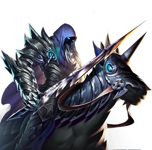 还有较为神秘的人物角色,如下图的威武的骑士与长有翅膀的暗影女性