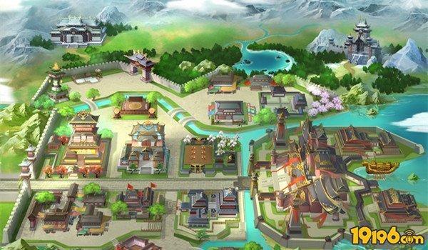 虚拟古风地图素材
