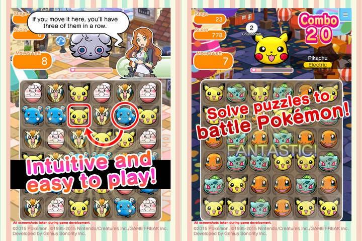 任天堂进军手游市场推出了《口袋妖怪》的三消手游《口袋妖怪方块